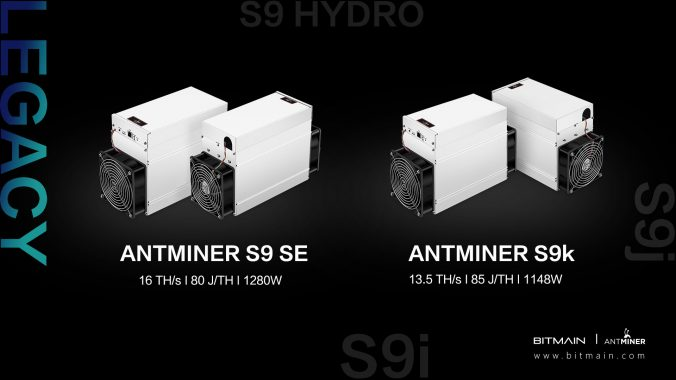 A look at the living legacy of the Antminer S9 SE & S9k